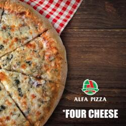 Four Cheese Pizza By Alfa Pizza
