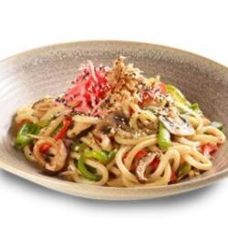Wagamama Noodles With Mushrooms Peppers Beansprouts White And Spring Onions