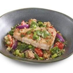 Wagamama Nuoc Cham Tuna Steak On A Bed Of Quinoa